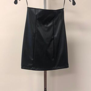NWT Fashion Nova Faux Black Leather Skirt